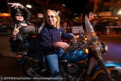 Riding Main Street at night during Daytona Bike Week. Daytona Beach, FL. USA. Saturday March 17, 2018. Photography ©2018 Michael Lichter.