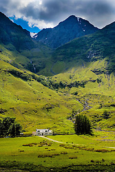 A house in Glencoe near the shore of Loch Achtriochtan, Highlands of Scotland<br /> <br /> (c) Andrew Wilson | Edinburgh Elite media