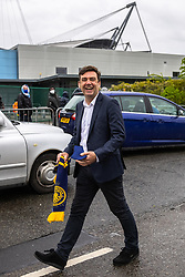 © Licensed to London News Pictures. 23/05/2021. Manchester, UK. Greater Manchester Metro Mayor and Everton supporter ANDY BURNHAM is seen leaving the stadium after the match . Manchester City fans are expected to celebrate outside the Etihad Stadium after their team beats Everton at home, having secured the Premiership title previously . Photo credit: Joel Goodman/LNP