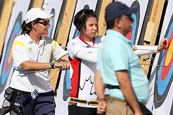 Fatima Rocha e Carvalho durante as eliminatórias do tiro com arco nos jogos Pan-Americanos de Guadalajara 2011. FOTO: Jefferson Bernardes/Preview.com