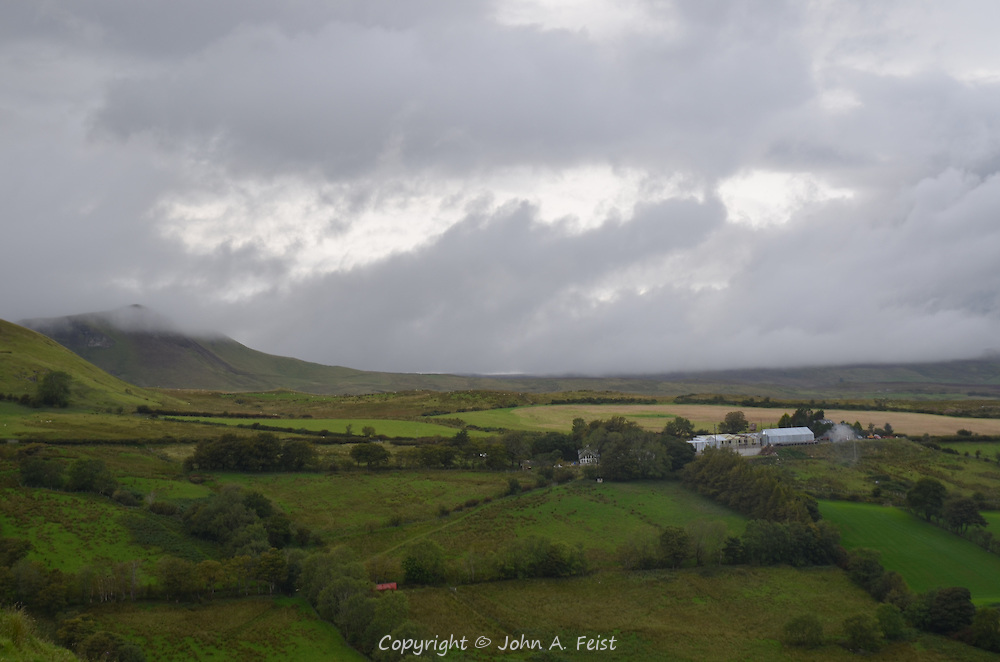 A view from Cushendall, County Antrim, Northern Ireland.  The sky was changing very quickly as the clouds rolled in getting darker.