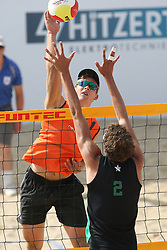 20160724 NED: NK Beachvolleybal 2016, Scheveningen <br />Ruben Penninga<br />©2016-FotoHoogendoorn.nl / Pim Waslander
