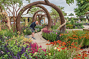 The Hampton Court Flower Show, organised by the Royal Horticultural Society (RHS). In the grounds of the Hampton Court Palace, London.