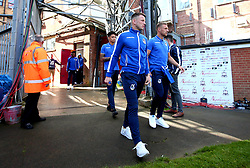 Ollie Clarke of Bristol Rovers, Lee Brown of Bristol Rovers and Daniel Leadbitter of Bristol Rovers arrive at The Northern Commercials Stadium (Valley Parade), home of Bradford City - Mandatory by-line: Robbie Stephenson/JMP - 02/09/2017 - FOOTBALL - Northern Commercials Stadium - Bradford, England - Bradford City v Bristol Rovers - Sky Bet League One