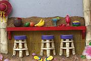 Fruit bar clay figure