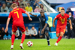 July 10, 2018 - St Petersburg, Russia - 180710 Eden Hazard of Belgium chases Ngolo Kante of France during the FIFA World Cup semi final match between France and Belgium on July 10, 2018 in ST Petersburg..Photo: Petter Arvidson / BILDBYRÃ…N / kod PA / 92084 (Credit Image: © Petter Arvidson/Bildbyran via ZUMA Press)