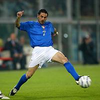 Genova 28/4/2004 <br />Amichevole Italia Spagna 1-1 - Friendly match Italy - Spain 1-1. <br />Stefano Fiore (Italy) <br />Photo Andrea Staccioli / Graffiti