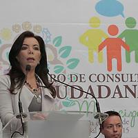 Metepec, México.- Carolina Monroy del Mazo, alcaldesa de Metepec  durante la inauguración de los trabajos del Foro de Consulta Ciudadana para la integración del Plan de Desarrollo 2013-2015.  Agencia MVT / Crisanta Espinosa