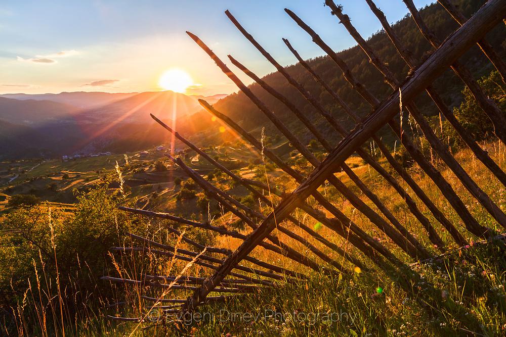 Fields around a rhodopean village