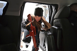 Karen Grey, a member of Hillary Clinton's security detail, takes part in training drills at a training facility in Summit Point, W.Va on Dec. 16, 2011.