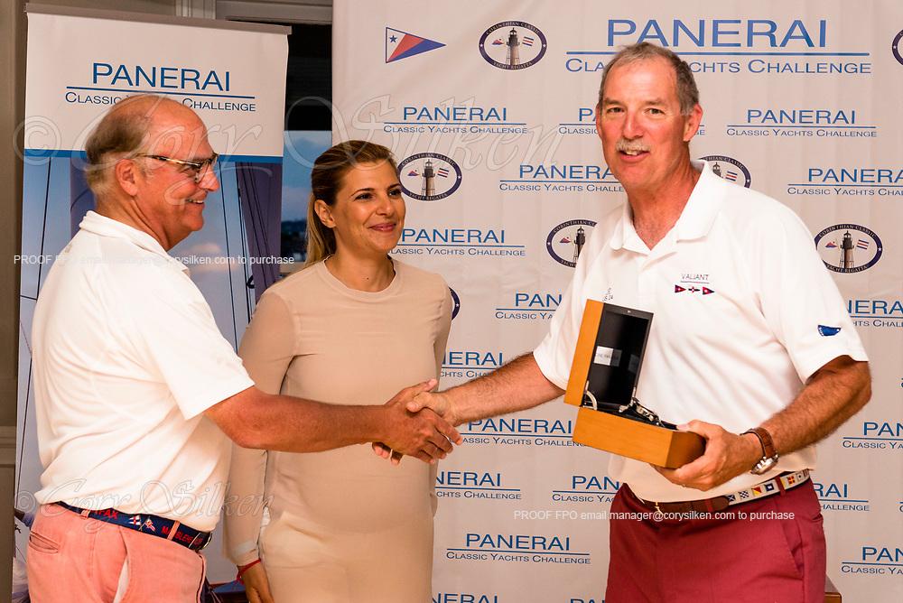 Panerai awards at the Corinthian Classic Yacht Regatta, team Valiant.