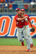09 June 2012: NC State's Mat Bergquist. The University of Florida Gators defeated the North Carolina State University Wolfpack 7-1 at Alfred A. McKethan Stadum in Gainesville, Florida in Game 1 of their NCAA College Baseball Super Regional series.