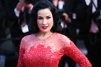 Dita Von Teese at the 'Behind The Candelabra' gala screening at the Cannes Film Festival  Tuesday 21 May 2013