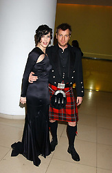 SHARLEEN SPITERI and EWAN McGREGOR at a Burns Night supper in aid of Clic Sargent & Children's Hospital Association Scotland hosted by Ewan McGregor, Sharleen Spieri and Lady Helen Taylor at St.Martin's Lane Hotel, 45 St Martin's Lane, London on 25th January 2006.<br /><br />NON EXCLUSIVE - WORLD RIGHTS