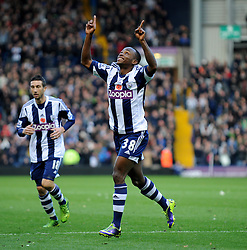 West Bromwich Albion's Saido Berahino celebrates after scoring first goal of the game. -Photo mandatory by-line: Alex James/JMP - Tel: Mobile: 07966 386802 02/11/2013 - SPORT - FOOTBALL - The Hawthorns - West Bromwich - West Bromwich Albion v Crystal Palace - Barclays Premier League