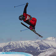 Klaus Finne, Norway, in action in the Men's Slopestyle Finals during The North Face Freeski Open at Snow Park, Wanaka, New Zealand, 2nd September 2011. Photo Tim Clayton...