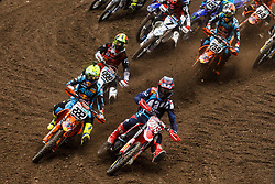 Antonio Cairoli #222 of Italy and Tim Gajser #243 of Slovenia during MXGP Trentino race two, round 5 for MXGP Championship in Pietramurata, Italy on 16th of April, 2017 in Italy. Photo by Grega Valancic / Sportida