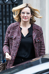 Downing Street, London, February 7th 2017. Home Secretary Amber Rudd leaves 10 Downing Street following the weekly UK cabinet meeting.