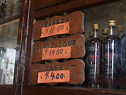 El Queirolo pisco bar in Lima, Perú.