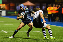 Blaine Scully of Cardiff Blues in action   - Mandatory by-line: Craig Thomas/JMP - 04/11/2017 - RUGBY - BT Sport Cardiff Arms Park - Cardiff, Wales - Cardiff Blues v Zebre Rugby Club - Guinness Pro 14
