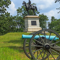 Gettysburg, PA, USA - June 30, 2013: The General Henry Slocum Monument on the Battlefield of Gettysburg.