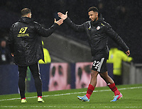Football - 2019 / 2020 Premier League - Tottenham Hotspur vs. Sheffield United<br /> <br /> Sheffield United's Lys Mousset with Billy Sharp at the final whistle, at Tottenham Hotspur Stadium.<br /> <br /> COLORSPORT/ASHLEY WESTERN