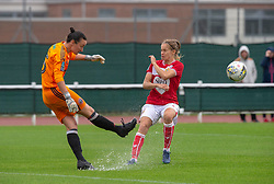 The pitch at Stoke Gifford Stadium was playable despite persistent rain - Mandatory by-line: Paul Knight/JMP - 26/08/2018 - FOOTBALL - Stoke Gifford Stadium - Bristol, England - Bristol City Women v Sheffield United Women - Continental Tyres Cup