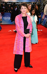 Annie Barrows attending The Guernsey Literary and Potato Peel Pie Society world premiere held at Curzon Mayfair, London.