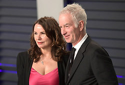 February 24, 2019 - Beverly Hills, California, U.S - Patty Smyth and John McEnroe on the red carpet of the 2019 Vanity Fair Oscar Party held at the Wallis Annenberg Center in Beverly Hills, California on Sunday February 24, 2019. JAVIER ROJAS/PI (Credit Image: © Prensa Internacional via ZUMA Wire)