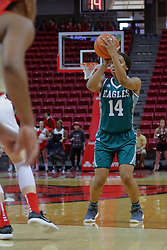 10 December 2017: Courtnie Lewis during an College Women's Basketball game between Illinois State University Redbirds and the Eagles of Eastern Michigan at Redbird Arena in Normal Illinois.