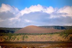 Pu`u Pua`i cinder cone, Hawaii Volcanoes National Park, Big Island, Hawaii