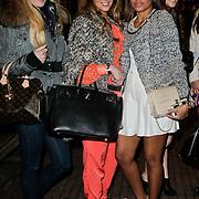 NLD/Amsterdam/20120308 - Presentatie nieuwe collectie voor Louis Vuitton, Sabine Pieters, Laila Sinouh(oranje pakje) en Winonah de Jong - Leefland, partner Kevin Strootman, *************, **************, Virginia Braaf - Wijnaldum