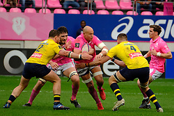 April 7, 2018 - Paris, France - Stade Francais Flanker SERGIO PARISSE in action during the French rugby championship Top 14 match between Stade Francais and Clermont at Jean Bouin Stadium in Paris - France..Stade Francais won 50-13 (Credit Image: © Pierre Stevenin via ZUMA Wire)