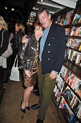 KATHY LETTE and STEPHEN FRY at a party to celebrate the publication of 'A Matter of Life and Death' by Ronni Ancona and Alistair McGowan held at Daunt Books, 83 Marylebone High Street, London on 8th October 2009.