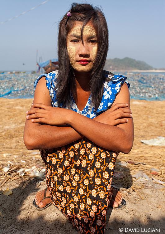 Girl posing in Gyeiktaw Village.