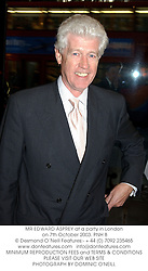 MR EDWARD ASPREY at a party in London on 7th October 2003.PNH 8