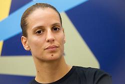 Andjela Bulatovic during press conference of RK Krim Mercator before new women handball season 2013/14 on July 30, 2013 in Arena Stozice, Ljubljana, Slovenia.  (Photo by Vid Ponikvar / Sportida.com)