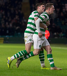 Celtic's Callum McGregor celebrates scoring his side's first goal of the game during the Ladbrokes Scottish Premiership match at Celtic Park, Glasgow.