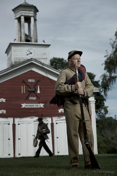 Photograph by © Dan Callister <br /> www.dancallister.com<br /> American Civil War re-enactors September 03, 2016 participate in a re-enactment at the Museum Village in Monroe, New York, USA<br /> [Exclusive]<br /> [ Pictures]<br /> **© DAN CALLISTER. FEE MUST BE AGREED BEFORE USAGE. NO WEB USAGE WITHOUT APPROVAL. ALL RIGHTS RESERVED** <br /> Tel: +1 347 649 1755<br /> Mob: +1 917 589 4976<br /> E-mail: dan@dancallister.com<br /> Web:  www.dancallister.com<br /> 3149 41st St, #3rd Floor, Astoria, NY 11103 USA<br /> Photograph by © DAN CALLISTER  www.dancallister.com