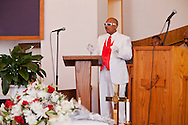 """""""Lowdown,"""" Kevin's best friend.<br /> Funeral services for Kevin """"Flipside"""" White at Macedonia Church in Watts.<br /> White was shot dead in what is believed to be an unprovoked attack during a gang conflict at Watts' Nickerson Gardens and Jordan Downs housing projects.<br /> Flipside, 44, was a founding member of Watts' first major label hip hop act, O.F.T.B. (Operation From The Bottom)."""