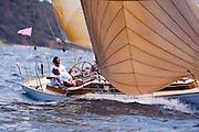 Vortex sailing in the Cannon Race at the Antigua Classic Yacht Regatta.
