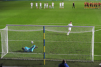 Football - 2020 / 2021 EFL Cup - Round Two - Leeds United vs Hull City<br /> <br /> Jamie Shackleton of Leeds has his penalty saved in the shootout  at Elland Road<br /> <br /> COLORSPORT/ANDREW COWIE