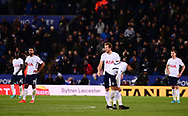 Tottenham Hotspur players look dejected after Leicester city score a goal to go 2-0 up .Premier league match, Leicester City v Tottenham Hotspur at the King Power Stadium in Leicester, Leicestershire on Tuesday 28th November 2017.<br /> pic by Bradley Collyer, Andrew Orchard sports photography.