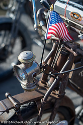 Cannonball bikes on display at Triple S Harley-Davidson in Morgantown WV during the Motorcycle Cannonball Race of the Century. Stage-2 from York, PA to Morgantown, WV. USA. Sunday September 11, 2016. Photography ©2016 Michael Lichter.