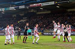 Alireza Jahanbakhsh of AZ takes a free kick during the Dutch Eredivisie match between Willem II Tilburg and AZ Alkmaar at Koning Willem II stadium on January 28, 2018 in Tilburg, The Netherlands