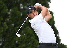 June 22, 2018 - Cromwell, Connecticut, United States - Jason Day tees off the 9th hole during the second round of the Travelers Championship at TPC River Highlands. (Credit Image: © Debby Wong via ZUMA Wire)