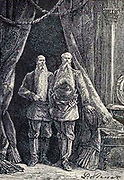 """Formidable guards from The Begum's Fortune (French: Les Cinq cents millions de la Bégum, literally """"the 500 millions of the begum""""), also published as The Begum's Millions, is an 1879 novel by Jules Verne, with some utopian elements and other elements that seem clearly dystopian. It is noteworthy as the first published book in which Verne was cautionary, and somewhat pessimistic about the development of science and technology.. Translated by W.H.G. Kingston in 1860 Published in Philadelphia by J. B. Lippincott and Co."""
