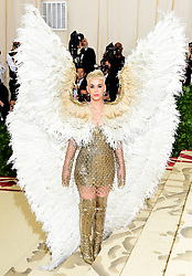 Katy Perry attending the Metropolitan Museum of Art Costume Institute Benefit Gala 2018 in New York, USA.