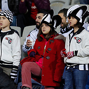 Besiktas's supporters during their Turkish Super League soccer match Istanbul Besiktas between Akhisar Belediyespor at the Basaksehir Fatih Terim Arena at Basaksehir in Istanbul Turkey on Sunday, 21 December 2014. Photo by Aykut AKICI/TURKPIX