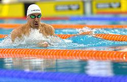 04-04-2015 NED: Swim Cup, Eindhoven<br /> Damir Dugonjic SLO, 50m breaststroke<br /> Photo by Ronald Hoogendoorn / Sportida